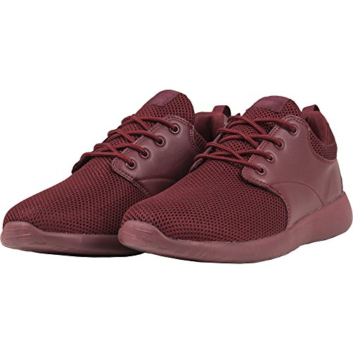 Urban Classics Unisex-Erwachsene Light Runner Shoe Low-Top Rot (burgundy/burgundy 717)