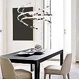 GJ123 Deng Chrome Kronleuchter Beleuchtung, LED Modern Kronleuchter Runde Rotierenden Design, Wohnzimmer Kronleuchter Restaurant Esstisch Büro Deckenleuchten (Weißes Licht)