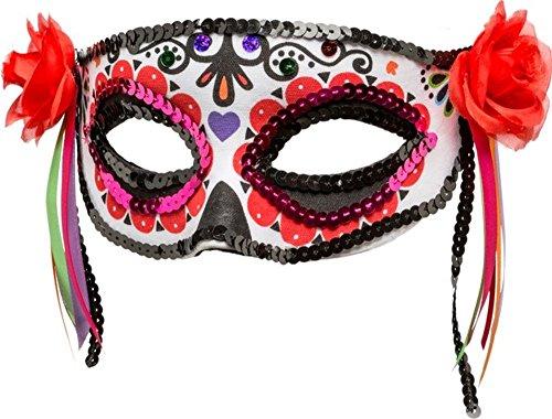 (Orlob Kostüm Zubehör Halbmaske Maske Day of the Dead Halloween)