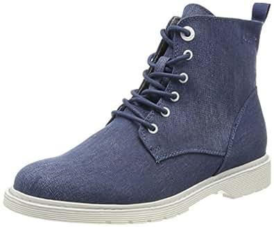 s.Oliver Damen 25475 Combat Boots, Blau (Denim), 42 EU