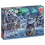 Jumbo Winter Wolfs pcs Lobos de Invierno, Puzzle de 500 Piezas (618329)