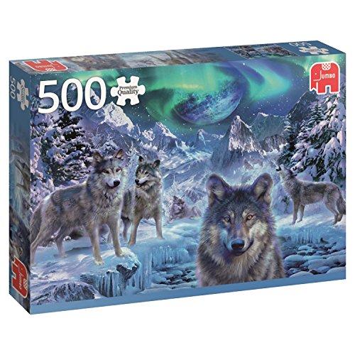 Jumbo- Winter Wolfs pcs Lobos de Invierno, Puzzle de 500 Piezas (618329)