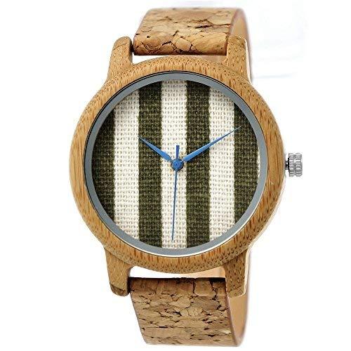 6721cca4cc508  Pure Time® Designer Öko Vegan legno naturale orologio da donna con  quadrante