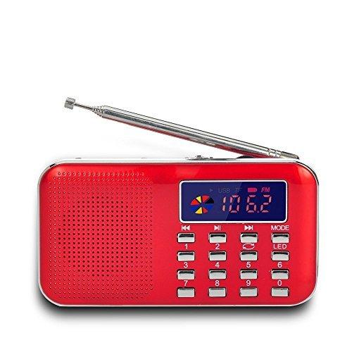 Timorn Radio FM,Radio Portable Radio USB Numérique MP3 Musique Media Player Président de Soutien TF Card/USB Disk avec Affichage à l'écran LED et d'urgence Fonction Lampe de Poch