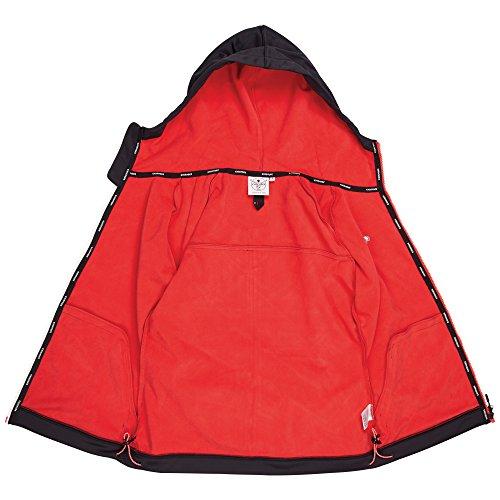 Chiemsee veste softshell pour femme avec capuche et doublure intérieure en polaire Noir - noir