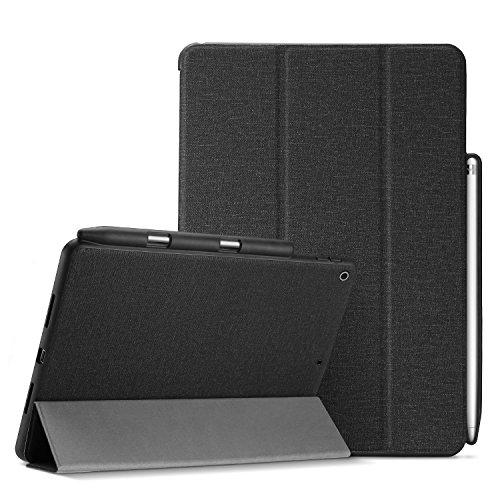 ProCase iPad 9.7 Hülle, Schlank Folio Stand Schutzhülle Smart Cover für iPad 9.7 2018 iPad 6th Generation / 2017 iPad 5th Generation mit Apple Pencil Holder -Schwarz