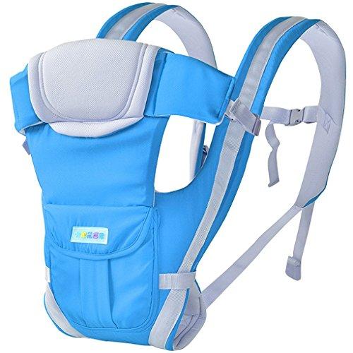 drasawee Vorder- und Rückseite Multifunktional 3D atmungsaktiv Netz Baumwolle Vier Jahreszeiten Infant Babyschalen Tasche Sling hellblau