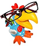 alles-meine.de GmbH Brillenhalter -  lustiger Vogel - Tukan / Papagei Ara / Hahn - Gockel  - stabil aus Kunstharz - universal Größe - für Kinder & Erwachsene / Brillenhalterung..