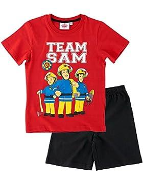 Feuerwehrmann Sam Kollektion 2017 Schlafanzug 98 104 110 116 122 128 134 140 Pyjama Shortie Shorty Fireman Sam...
