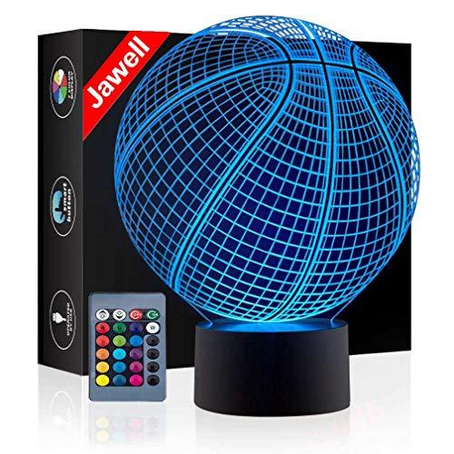 Lámpara de luz nocturna decorativa Jawell con ilusión en 3D de 7colores e interruptor de luz para regalo creativo, casa, oficina o decoración