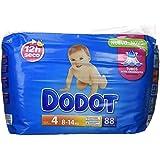 Dodot Pañales Infantiles, Talla 4, 8-14 kg Hasta 12H Seco - 88 Piezas