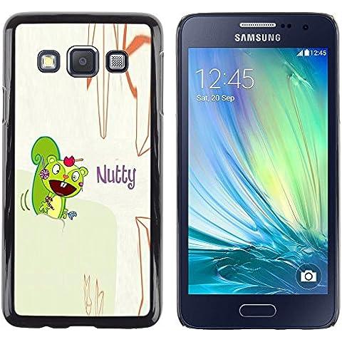 GooooStore/ Dura Custodia Rigida della copertura della cassa - Squirrel Mad Funny Quote Cartoon Drawing - Samsung Galaxy A3 SM-A300