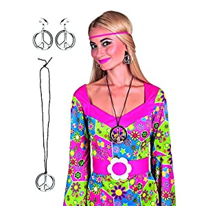 Boland BOL44517 Peace Necklace & Earring Set