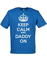 SR - Keep Calm Daddy Organic Mens T Shirt - Father's Day Gift