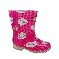 MaxiMo Wellies LED Cat 63203-761400 pink / pink