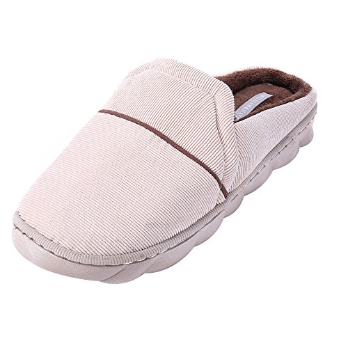 Mens pistone dell'interno Inverno Primavera di calore molle comodo pantofole permeabilità all'aria pantofole WK1701000201 WILLIAM & KATE (42/43 EU, Marrone)