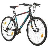 26 Zoll Bikesport Active Fahrrad Mountainbike MTB Herrenfahrrad Shimano 18 Gang (Schwarz matt Blau Rot, L)