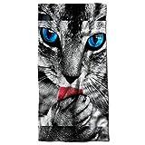 Wellcoda Cute Furry Kitty Paw Cat Wild Animal Beach Towel 28