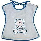 Rachna's Knot Closure Back Open T-Shirt Saliva Towel Burp Cloth Baby Feeding Bib Apron - 523 - Blue - Upto 3 Years