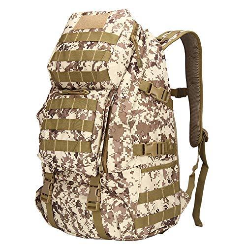 Lwyj 1multi-funzionale borsa militare tattico impermeabile esercito molle zaino d'assalto grande capacità zaino da trekking borsa per alpinismo escursionismo campeggio all'aperto(desert camouflage)
