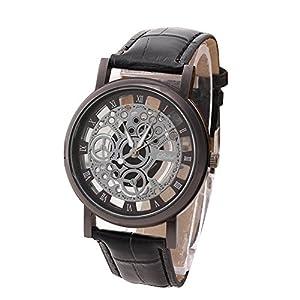 Herren Luxus Edelstahl Quarz Militär Männer Sport Leder Band Uhren Geschäft Dial Armbanduhr Groveerble