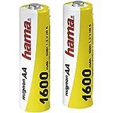 Hama - NiMH Battery 2x AA (Mignon - HR 6) 1600 mAh, Níquel e Hhidruro Metálico, 1600 mAh, 1.2 V