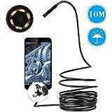 """KKmoon Boroscopio Endoscopio USB Android y PC 6 LED Inspección de Tubo Serpiente CCTV Cámara con Cable 1/9"""" CMOS / Impermeable IP66 / 67° ángulo (10M)"""