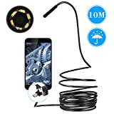 KKmoon Snake Tube Inspection Camera with 6 LED Waterproof 2 in 1 Android and PC USB Endoscope Borescope CCTV Inspection Wire Camera 10 M