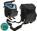 Navitech Black Camera Bag Compatible With the Vtech 507503 / 507553 Kidizoom Flix Playset