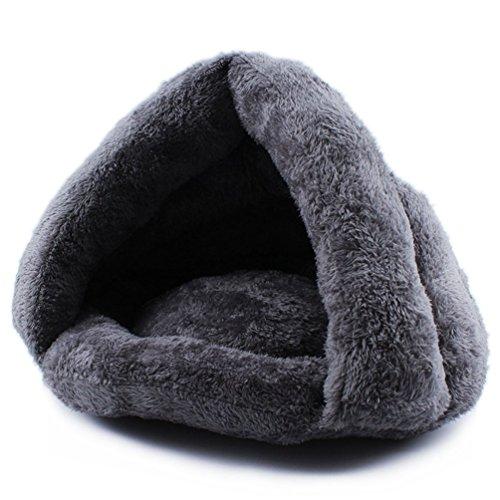 Komia Kuschelhöhle für Katze Warmer Plüsch Katzenhöhle