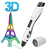 3D Drucker Stift Set,Aerb Intelligent 3D Printing Pen kompatibel mit Pla/ABS Filament + 2 frei 1,75 mm Filament-Minen, B