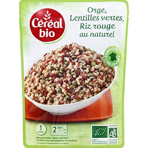 céréal bio Boulghour d'orge, riz rouge et lentilles vertes ( Prix unitaire ) - Envoi Rapide Et Soignée