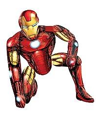 Idea Regalo - Amscan - Palloncino Gigante Di Iron Man, Altezza: 120 Cm