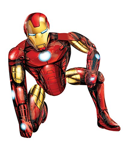 Anagram 11006201 - Party und Dekoration - Folienballon Air Walker - Avangers Assemble - Iron Man, circa 93 x 116