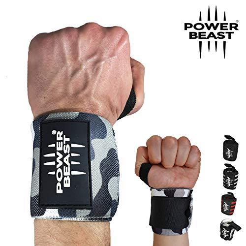 Power Beast Muñequeras Crossfit | Wrist Wraps Elásticas