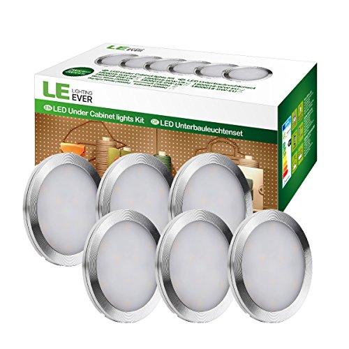 Pack de 6 luces LED con adaptador de alimentación LE