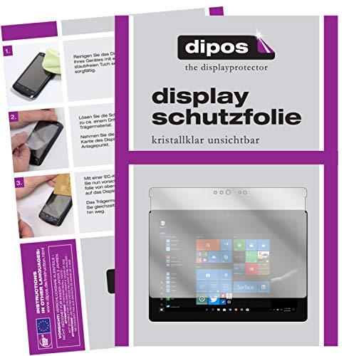 dipos I 2X Schutzfolie klar passend für Microsoft Surface Go Folie Bildschirmschutzfolie
