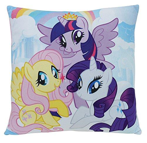 FUN HOUSE 712530 My Little Pony-Coussin carré 35 x 35 cm pour Enfant, Polyester, Pas de Variation, 35 x 35 x 15 cm