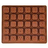 BlueFox - Molde de silicona con forma de letras, para aprender a leer o para fiestas de cumpleaños, ideal para hornear bombones, para aniversarios, fiestas de despedida, decoración de dulces