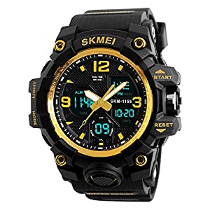 Skmei Analog-Digital Black Dial Men's Watch – 1155 Gold