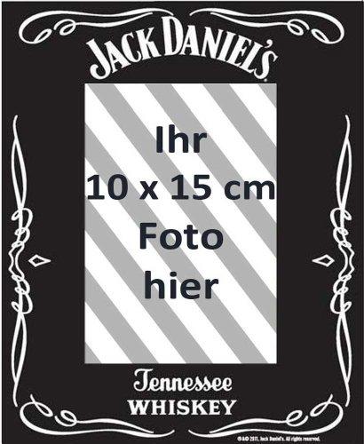 empireposter - Jack Daniels - Black - Fotorahmen - Größe (cm), ca. 22,8x17,8 - Spiegel Fotorahmen, NEU - Beschreibung: - Bedruckter Spiegel als Tisch- oder Wandfotorahmen, geeignet für Fotos mit einer maximal Grösse von 10x15 cm. -