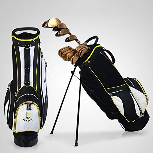 KANGLE Pgm Golf Bag Herren Damen Wasserdichte Nylon Große Kapazität Golf Club Set Tasche mit 14-Fach gepolstertem Divider Top (Clubs SIND Nicht CLUDED),Yellow