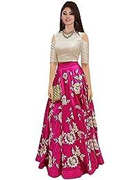 Banaras Creation Lehenga Choli Banglorey Silk Febric With Semi-Stitched Blouse Piece.