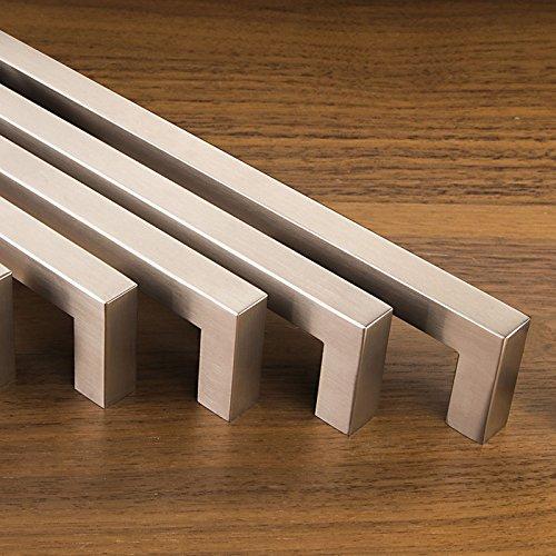 Set da 10 x SO-TECH Maniglie per Mobile E8 vero Acciaio Inox Distanza Fori 96 mm Maniglie per Cucina