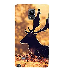 PrintVisa Relaxing Animal 3D Hard Polycarbonate Designer Back Case Cover for Samsung Galaxy Note 4 :: Samsung Galaxy Note 4 N910G :: Samsung Galaxy Note 4 N910F N910K/N910L/N910S N910C N910FD N910FQ N910H N910G N910U N910W8