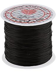 MagiDeal 60m Diamètre 1mm Rouleau de Cordon/ Cord Elastique en Polyester pour Tressage Cheveux / Perruque Fil...