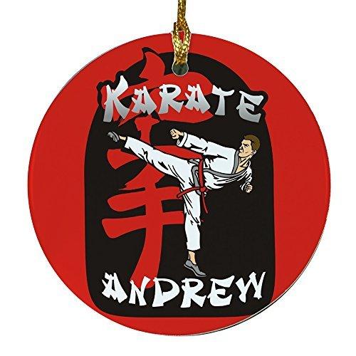 Crafts Personalisierte Karate Boy Xmas Tree Ornament Kleiderbügel Geschenk für Frauen ()