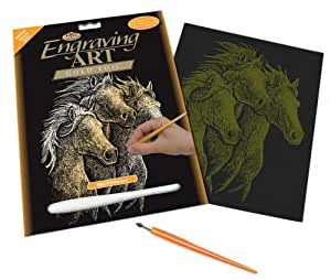 Royal & Langnickel Gold Engraving Art A4 Size Horses Designed Painting Set