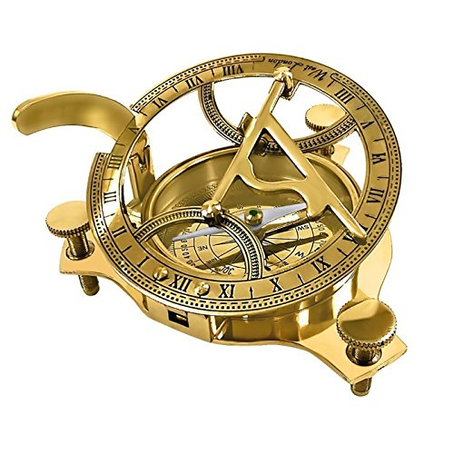 PARIJAT HANDICRAFT Sundial-Compass-4368