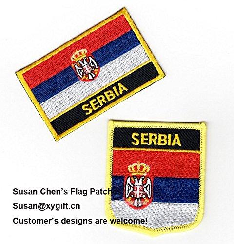 coolpart Serbia Bandiera Patch 2pcs molto perfetto cerotti
